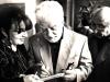 Էդ. Իսաբեկյանը Գրիգոր Խանջյանի և Զառա Միքայելյանի հետ իր ցուցահանդեսի բացմանը / Eduard Isabekyan, Grigor Khanjyan and Zara Mikayelyan at the opening of the personal exhibition of Ed.Isabekyan