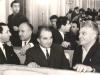 Համագումարի ժամանակ.Էդ.Իսաբեկյան, Լյուդվիգ Ղարիբջանյան, Կարեն Դեմիրճյան, Վահագն Դավթյան, 1970թ / Eduard Isabekyan, Karen Demirchyan, Lyudvig Gharibjanyan, Vahagn Davtyan 1970