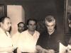 Վահագն Դավթյանը և այլոք Էդուարդ Իսաբեկյանի անհատական ցուցահանդեսի բացմանը, 1964թ / Vahagn Davtyan and others, opening of Eduard Isabekyan's personal exhibition, 1964