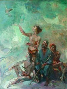 Նոյը որդիների հետ. 1985, կտավ, յուղաներկ, 89 x 60,5