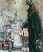 Ծերունու առավոտը. 1964, կտավ, յուղաներկ, 145×100, Հայաստանի ազգային պատկերասրահ