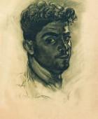 Эдуард Исабекян 1914-2007. Автопортрет. 1948, бумага, карандаш