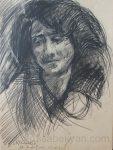 Անուշիկի դիմանկարը, Սինաթլե. 12.09.1972, թուղթ, ածուխ, մատիտ, 48×36, ԸՀ