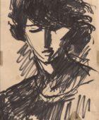 Խաչիկ (Չիկ) Դամադյան. Արփենիկ Նալբանդյանի դիմանկարը. թուղթ, ֆլոմաստեր, 30×20, ընտանիքի հավաքածու