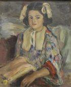 Արփենիկ Նալբանդյան 1916-1964. Սյուզաննայի դիմանկարը. 1943, կտավ, յուղաներկ, 60×50, ընտանիքի հավաքածու