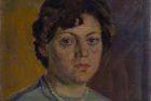 Արփենիկ Նալբանդյան 1916-1964. Նկարչուհի Աիդա Բոյաջյանի դիմանկարը. 1958, կտավ, յուղաներկ, 34×42, Հայաստանի ազգային պատկերասրահ