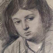 Սյուզան Իսաբեկյան. 1942, թուղթ, մատիտ, 21×15, մասնավոր հավաքածու