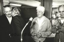 10.10.1980. At the opening of Guros's exhibition