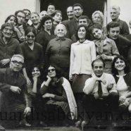1969. Ազգային պատկերասրահի աշխատակիցները Հրազդանում